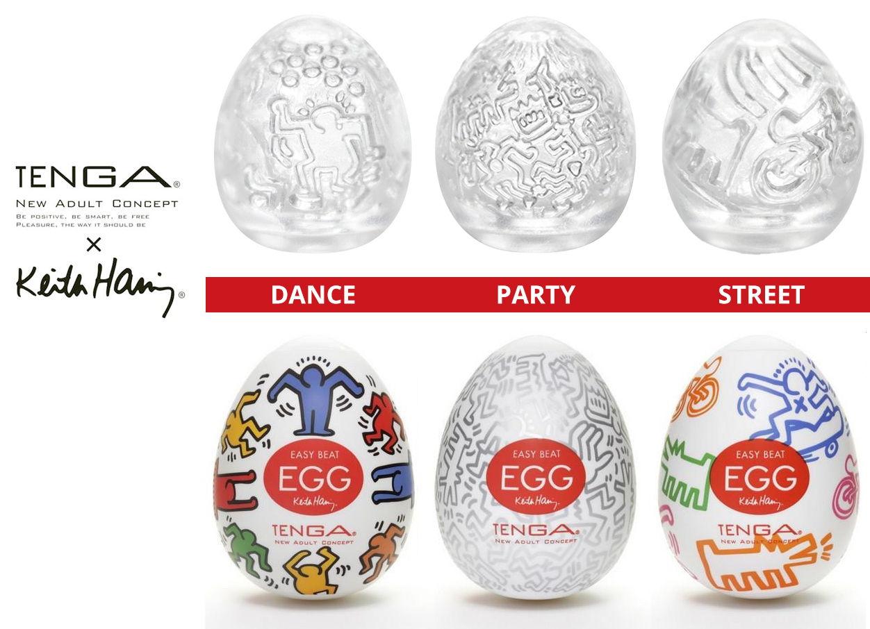 Tenga Egg и дизайн от Кита Харинга